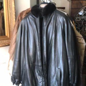 Mink & Leather Reversible Ladies Jacket